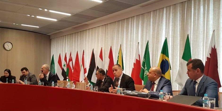 نائب رئيس إقتصادية قناة السويس يوقع مذكرة تفاهم مع ميناء سانتوس البرازيلي