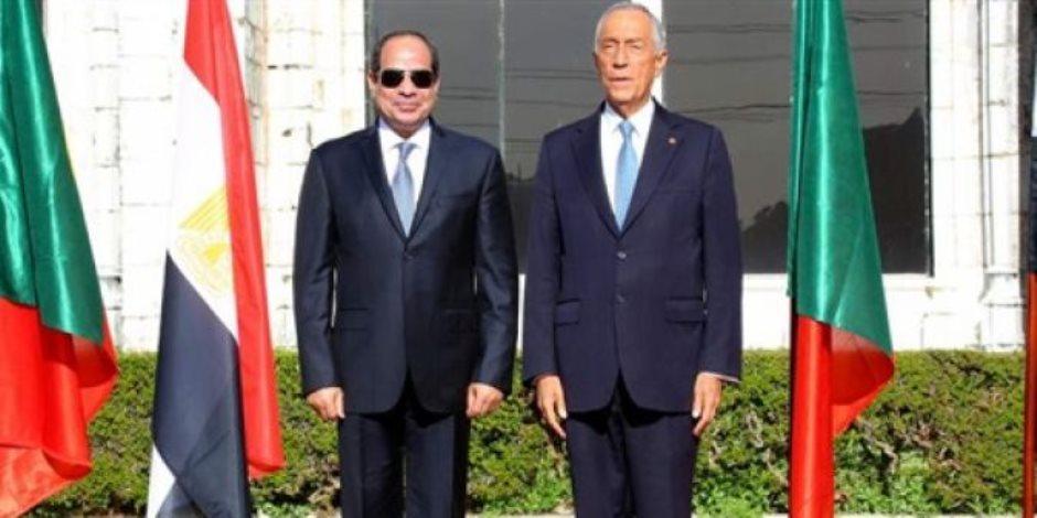 السيسي لنظيره البرتغالي: نحارب الإرهاب باستراتيجية أمنية وثقافية