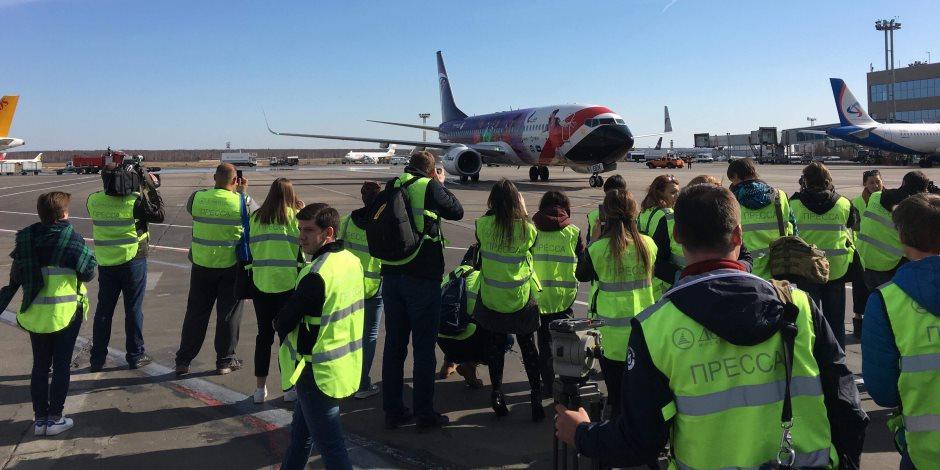 مطار «دوموديديفو» الروسى يستقبل أول طائرة مصرية