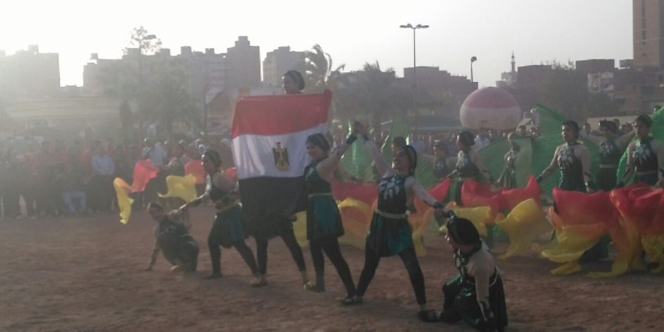 جمباز وموسيقي.. جامعة حلوان تتألق بعروض افتتاح معهد إعداد القادة (صور)