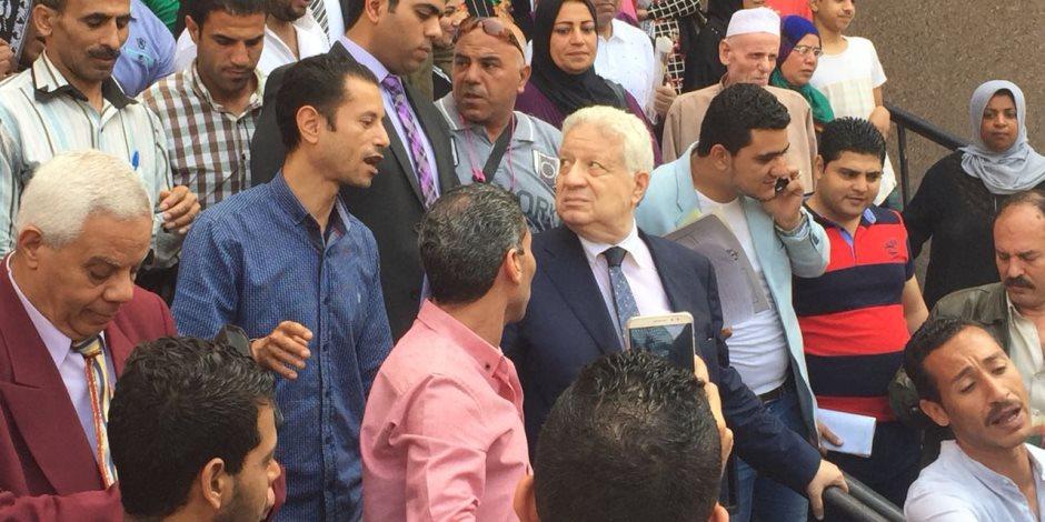 مرتضى منصور يغادر مجلس الدولة بعد انتهاء المرافعة في دعواه ضد وزير الرياضة (صور)