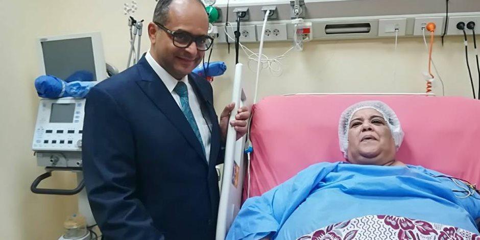 سيدة تزن 300 كيلو جرام تخضع لعملية تحويل معدة بمستشفى الدمرداش