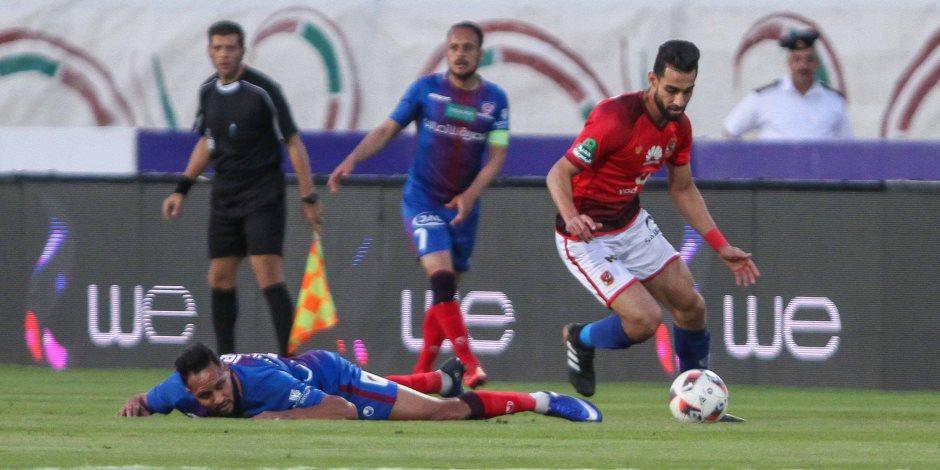 عمر النجدى يحرز الهدف الأول لبتروجت أمام الأهلي (فيديو)