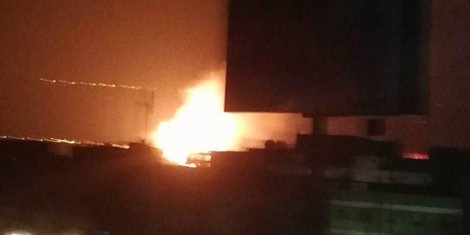 إنهيار مصنع غازات بالمنطقة الصناعية بالعاشر من رمضان لإنفجار خزان الأكسجين