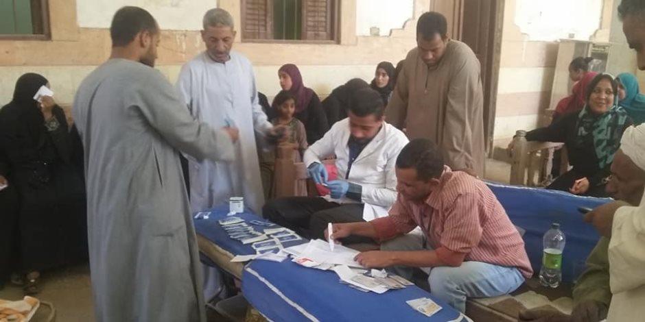 «تحيا مصر» للعلاج فيروس سي يحلل لـ 850 مواطن بمدينة الطود جنوب الأقصر