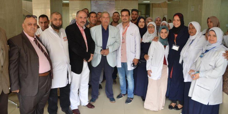 محافظ الإسماعيلية يتابع أعمال التجديد الشامل بمستشفيات الصدر والحميات