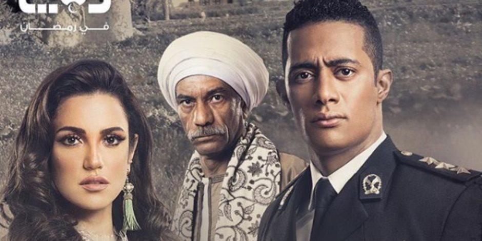 """محمد رمضان بالزى الشرطى فى مسلسله """"نسر الصعيد"""""""