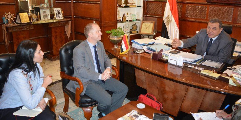 وزير القوى العاملة يلتقى وفد منظمة العمل الدولية