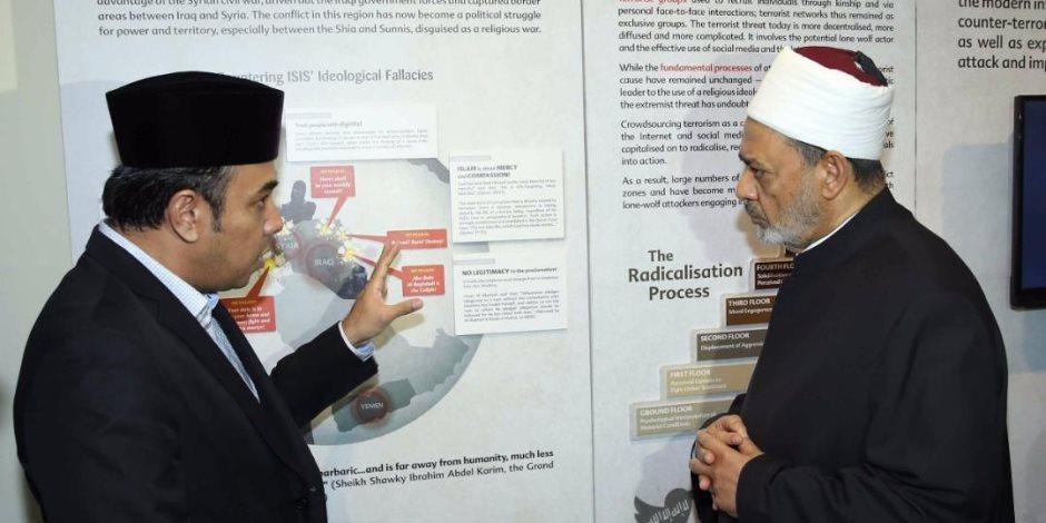 شيخ الأزهر: زيارتى لسنغافورة هدفها إلغاء تهمة الإرهاب عن الإسلام والمسلمين