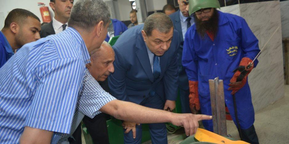 وزير القوى العاملة يتفقد مركز تدريب محرم بك بعد تطويره (صور)