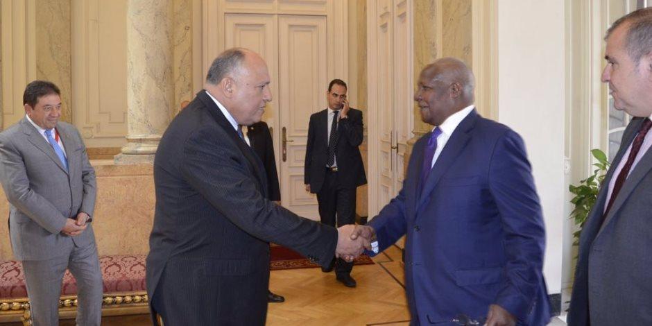 سامح شكرى يلتقى نظيره الأوغندى قبل بدء اللجنة المشتركة بين البلدين (صور)