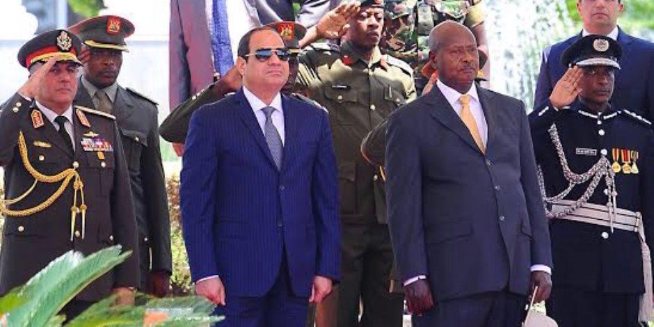 السيسي يستقبل نظيره الأوغندي لمناقشة سبل التعاون بين البلدين