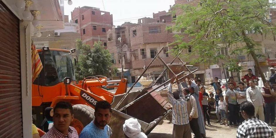 إزالة 550 مخالفة إشغالات بمدينة ببا جنوب بني سويف (صور)