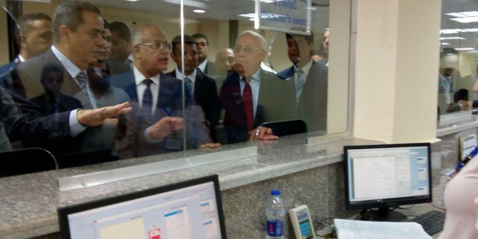 مساعد وزير العدل ومحافظ بورسعيد يتفقدان مركز المعلومات بالمحكمة الابتدائية
