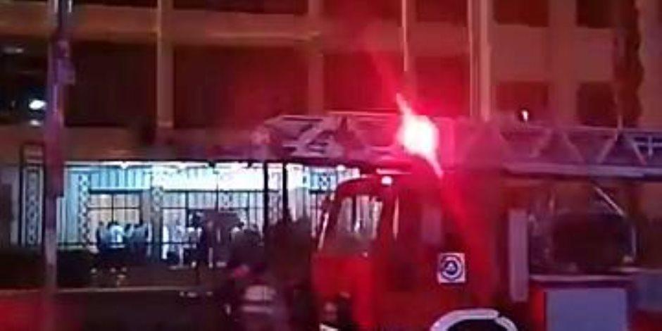 تقاصيل حريق مستشفي الحوادث بجامعة الزقازيق (صور)