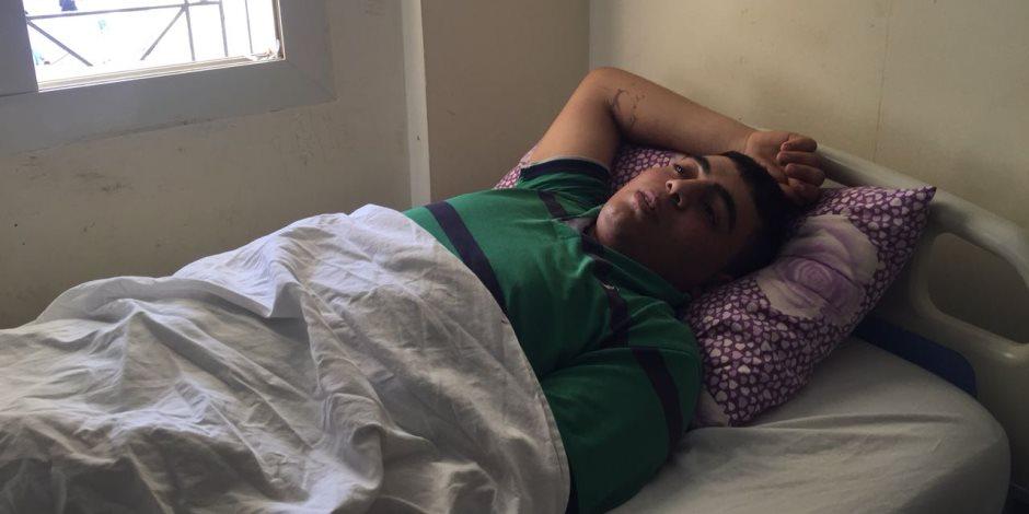 أول مصاب فلسطيني يصل مستشفى العريش: مصر هي السند فى وقت الشدة