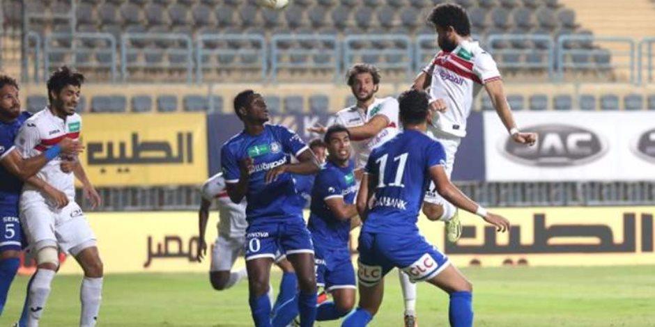 ماذا كتب حكم الزمالك وسموحة في تقرير نهائي كأس مصر؟