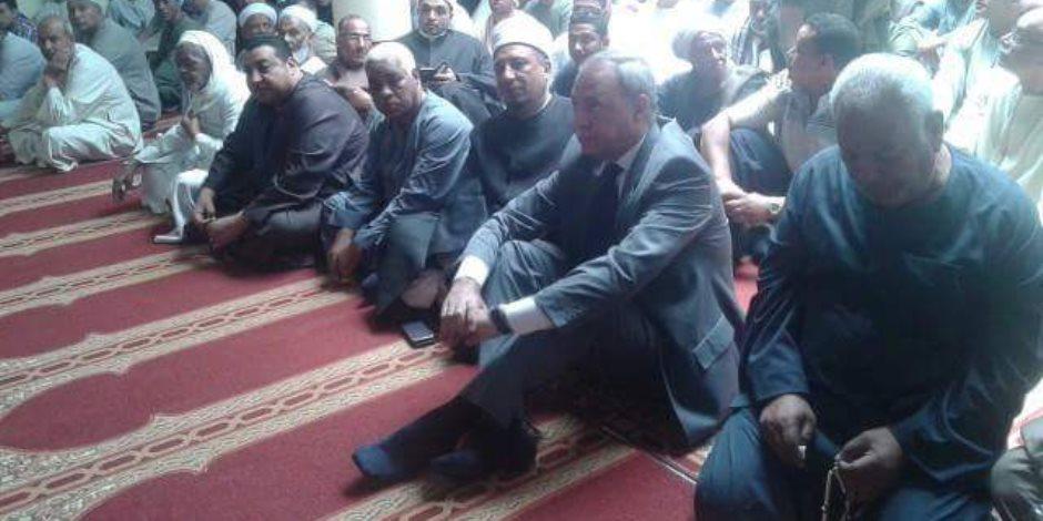 محافظ قنا يفتتح مسجد المستشار محمد الصغير بنجع حمادي  (صور)