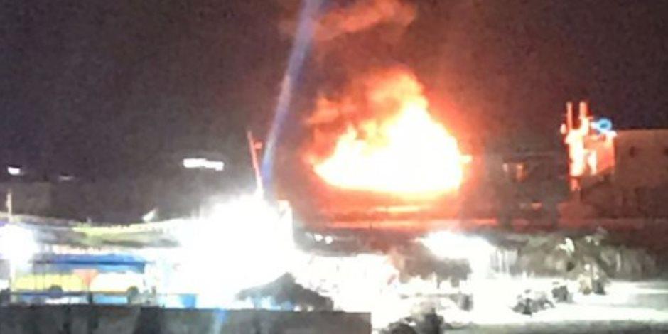 شاهد.. غارات جوية لطائرات الاحتلال الإسرائيلي على الميناء البحري بقطاع غزة