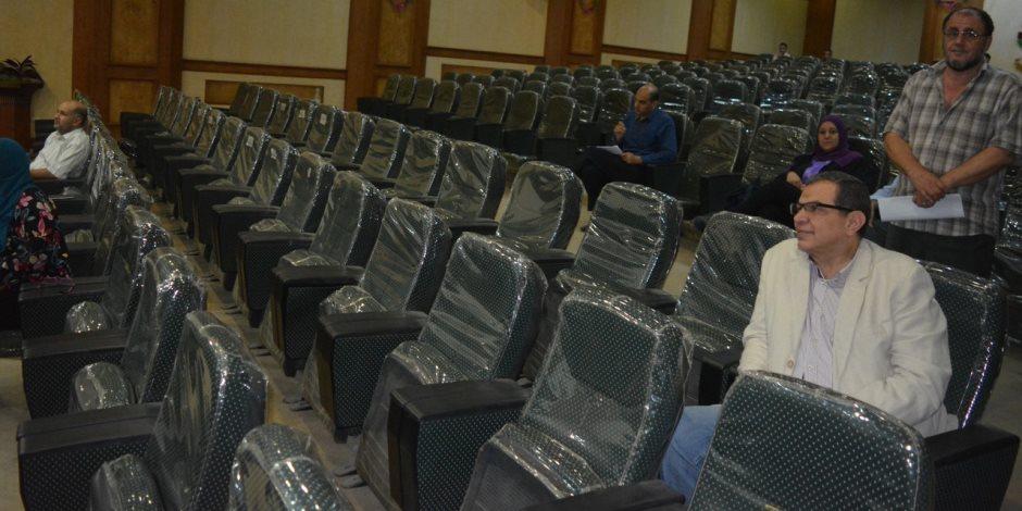 «سعفان» يتابع نتائج المرحلة الأولى للانتخابات العمالية (صور)