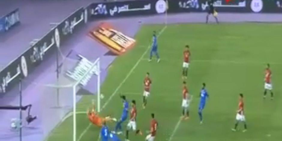 فهد الأنصاري يتقدم لمنتخب الكويت أمام مصر (فيديو)