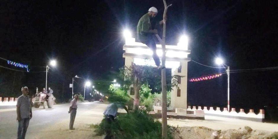 استمرار حملات النظافة والتجميل بشوارع قرى مركز ساقلته بسوهاج