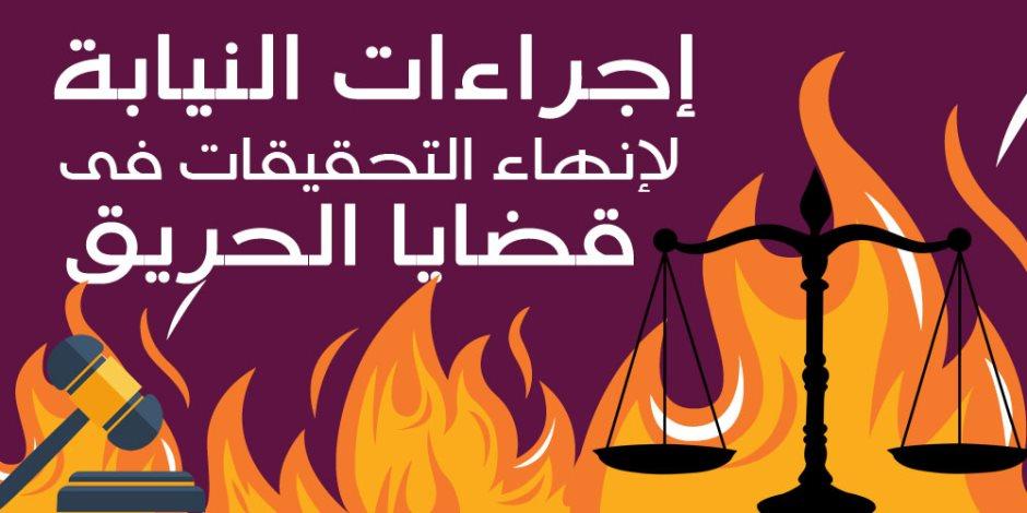 إجراءات النيابة لإنهاء التحقيقات فى قضايا الحريق (إنفوجراف)