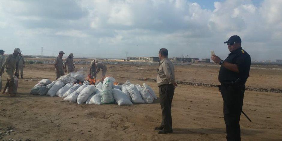 ضبط منشر زريعة الأسماك ببحيرة البرلس بكفر الشيخ  (صور)