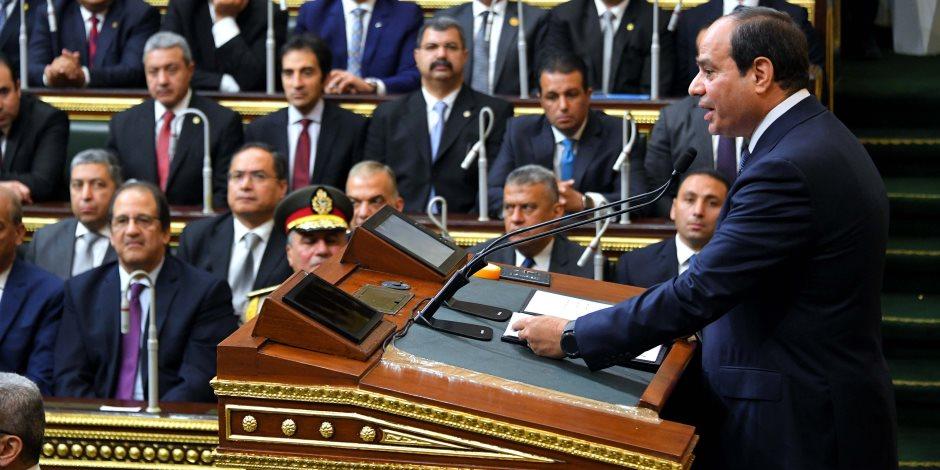 التنظيم الجيد لمراسم حلف اليمين بمجلس النواب.. شاهد على العهد الجديد للسيسي