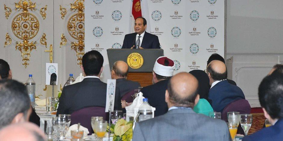 الرئيس السيسي: مصر خلال عامين ستكون في مكان آخر