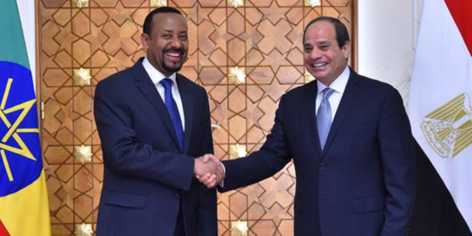 «والله حصتكم آمنة».. رسائل مؤتمر «إزالة العوالق» بين السيسي ورئيس وزراء إثيوبيا