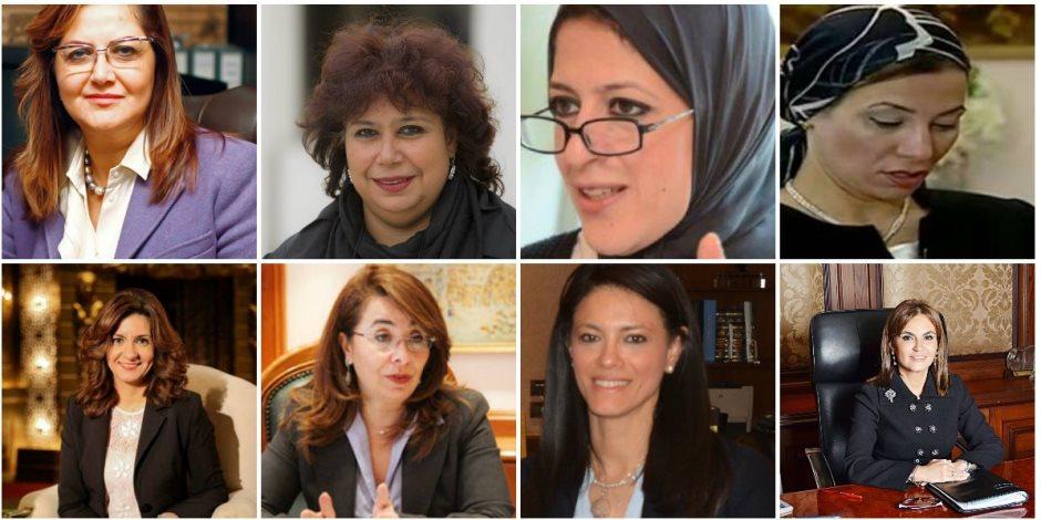 """8 وزيرات في حكومة """"مدبولي"""".. الرئيس يدعم والمرأة تثبت نفسها"""