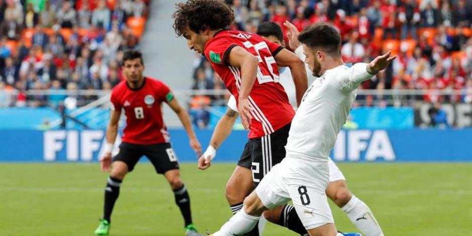 45 دقيقة صمود.. منتخب مصر يؤدي شوطاً متوازناً أمام منتخب اوروجواي