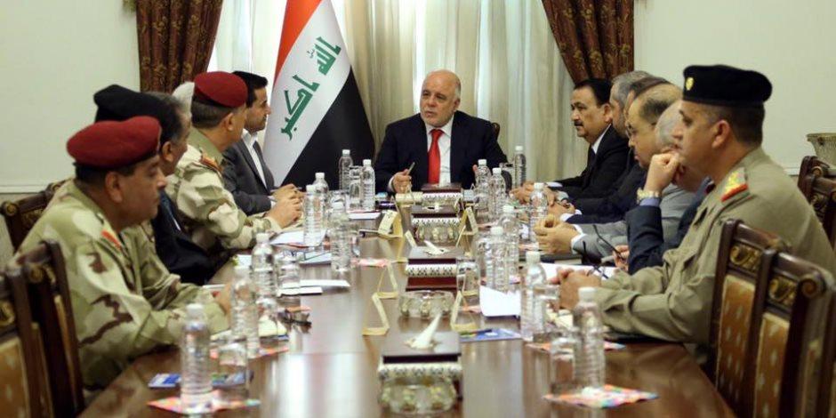 العراق تحتشد ضد داعش.. ماذا قال العبادي للقيادات الأمنية عن خطط مواجهة الإرهاب؟