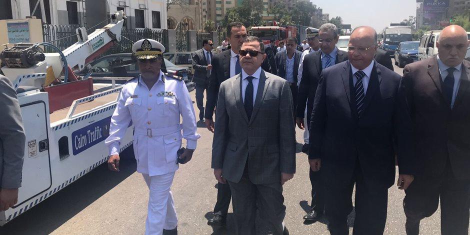 وزير الداخلية من موقع عنف الإخوان: أمن المواطن رسالتنا.. وندفع حياتنا من أجله (صور)