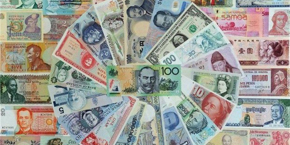 اسعار العملات اليوم الأحد 1-7-2018.. الدولار يستقر واليورو والاسترليني يتراجعان
