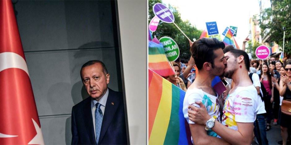 أردوغان يفتتح مسجدا بيمينه ويغازل المثليين بيساره