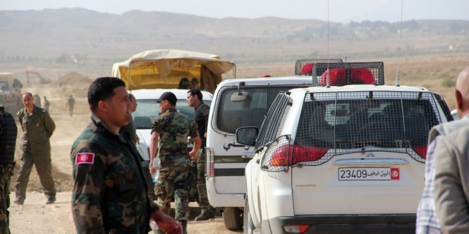 استشهاد 9 من أفراد الحرس الوطني التونسي في كمين نصبه إرهابيون