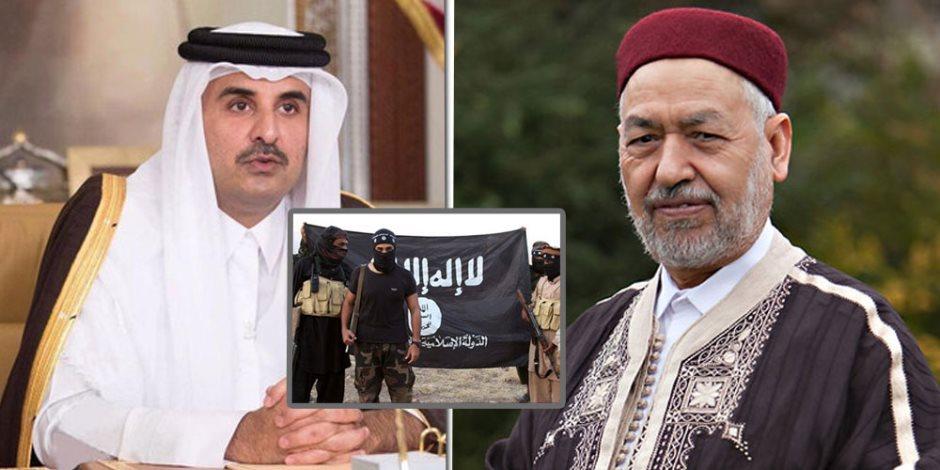 داعش يتسلل لتونس تحت «شاشية» الغنوشي.. مؤشرات جديدة على علاقة النهضة بالإرهاب