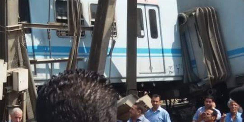 خروج عربتين عن القضبان.. من السبب في حادث قطار مترو المرج؟