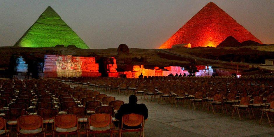 لو انت مصري أو أجنبي.. احضر عروض «الصوت والضوء» بالمجان في يوم ميلادك