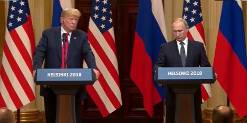 ترامب يشيد بالمنتخب الروسي خلال قمة هلسنكي.. ويكشف موقف أمريكا تجاه اللاجئين