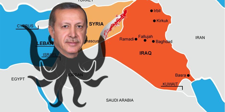 أخطبوط بأذرع من نار ودم.. خناجر أردوغان المسمومة تقطّع أوصال سوريا والعراق