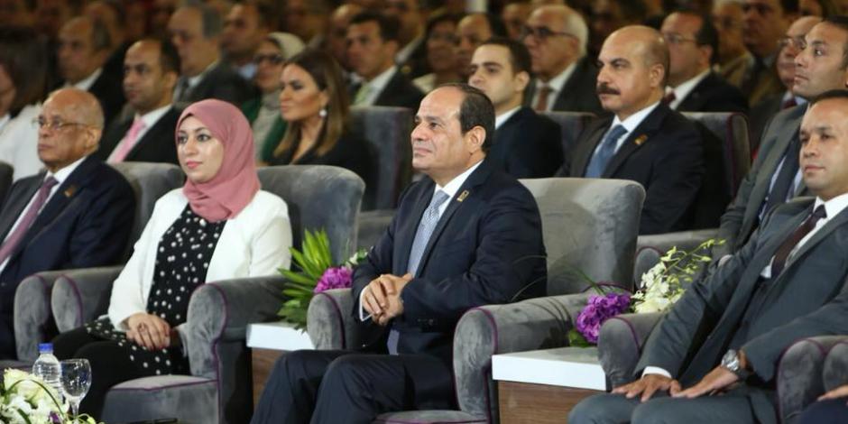 السيسي يفتتح المؤتمر السادس للشباب في جامعة القاهرة