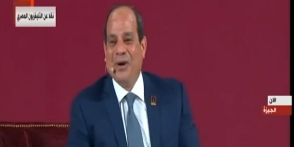 الرئيس السيسي يعلق على رقصة «تحدي كيكي».. ماذا قال؟