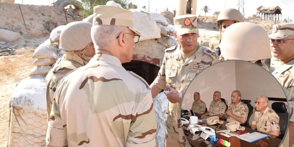 وزير الدفاع يتابع سير مراحل العملية الشاملة سيناء 2018 بقيادة شرق القناة