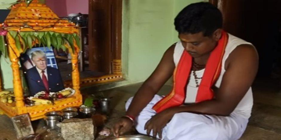 بعد البقر.. لماذا يعبد بعض الهنود «ترامب» ؟ (صور وفيديو)
