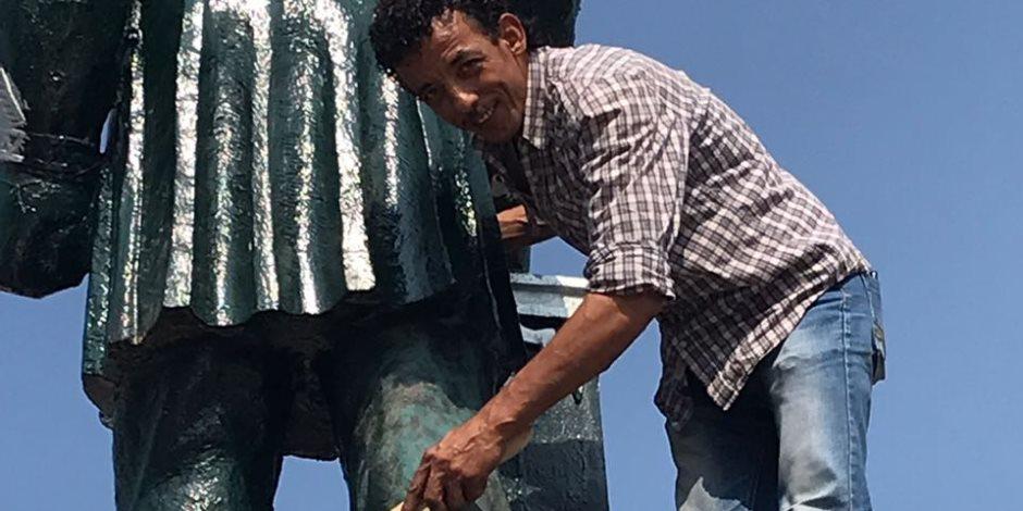 لجنة الثقافة تبدأ أعمالها لإعادة رونق تمثال الخديوي في الإسماعيلية