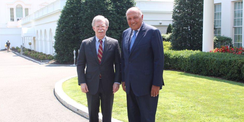 """في أول لقاء بينهما.. سامح شكري لـ""""مستشار ترامب"""": هذه مواقف مصر من القضايا الإقليمية"""