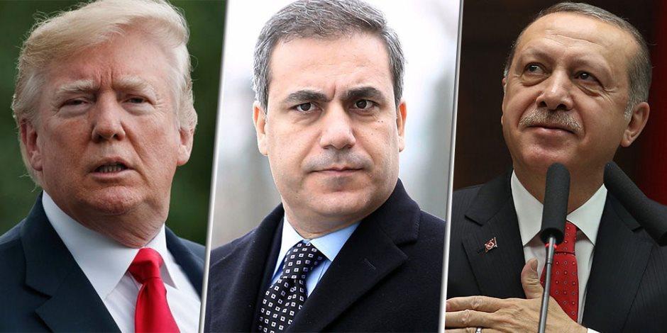 هل يضحي أردوغان برئيس مخابراته؟.. تسريبات باعتزام أمريكا وضع «هاكان» على قائمة العقوبات